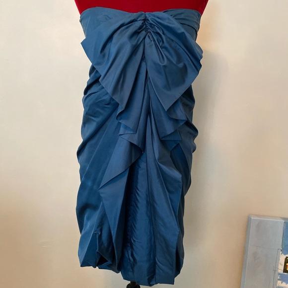3.1 Phillip Lim Dresses & Skirts - Phillip Lim 3.1 blue bubble ruffle strapless dress